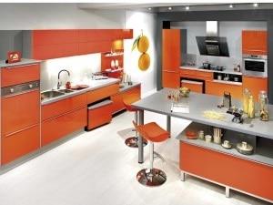Cuisine Orange Dynamique Et Jeune