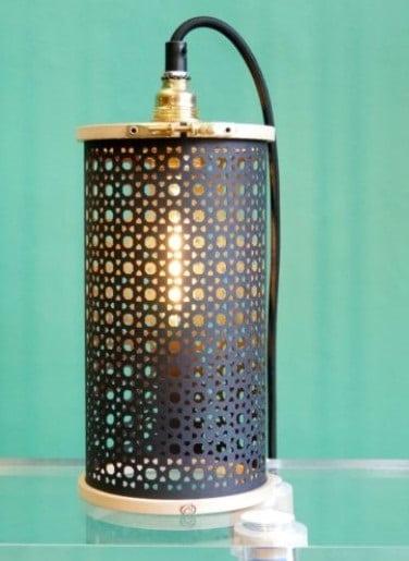 Lampe Cannage Noir