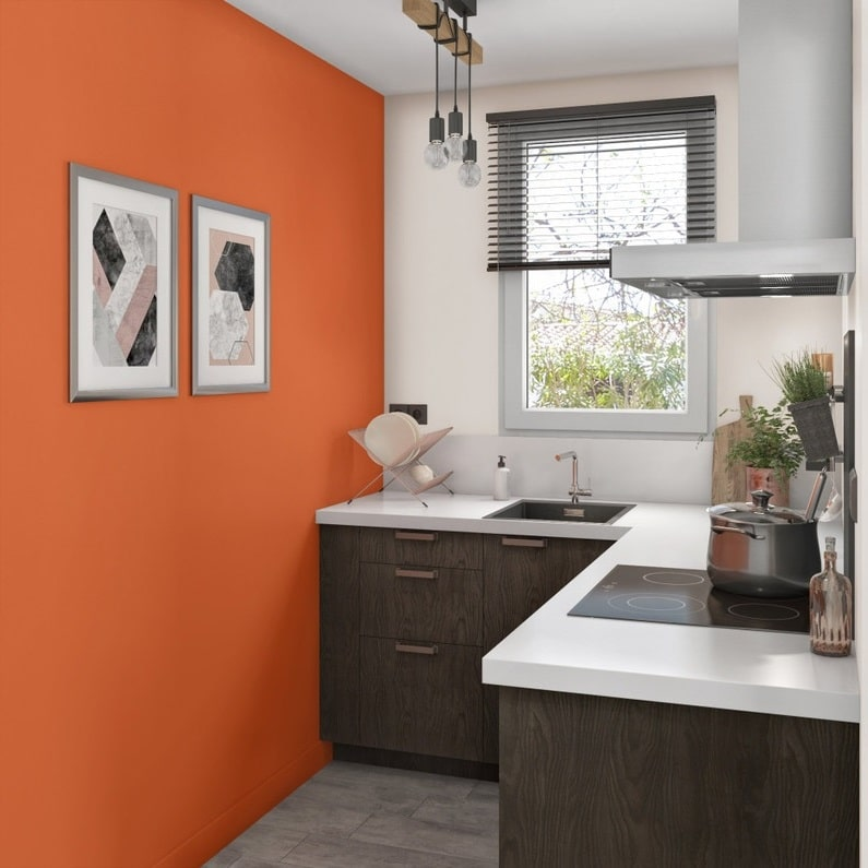 Peinture Murale Orange Pour Cuisine