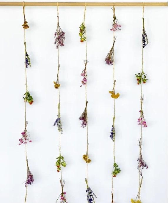 Rideau De Fleurs Séchées