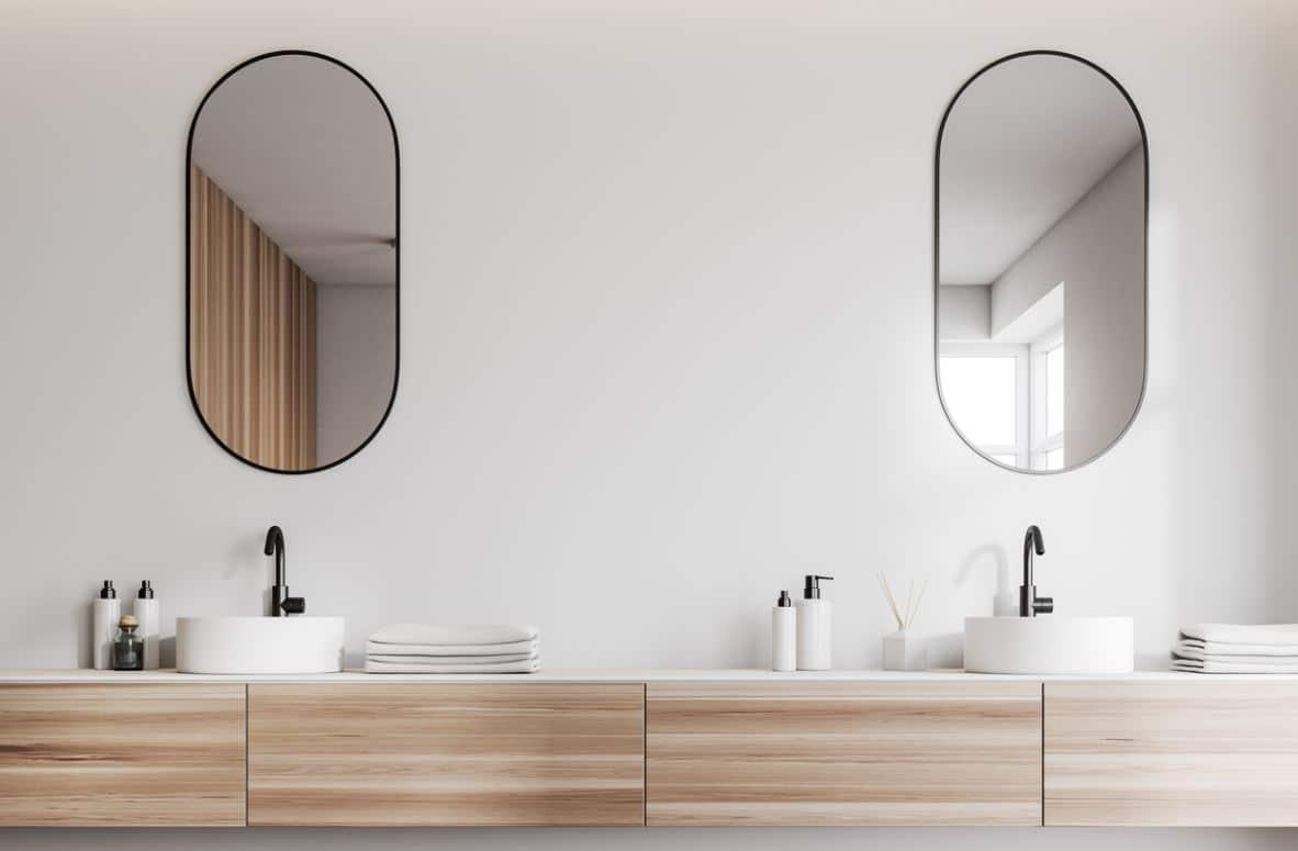 Deux Miroirs Salle De Bain Fixer Hauteur