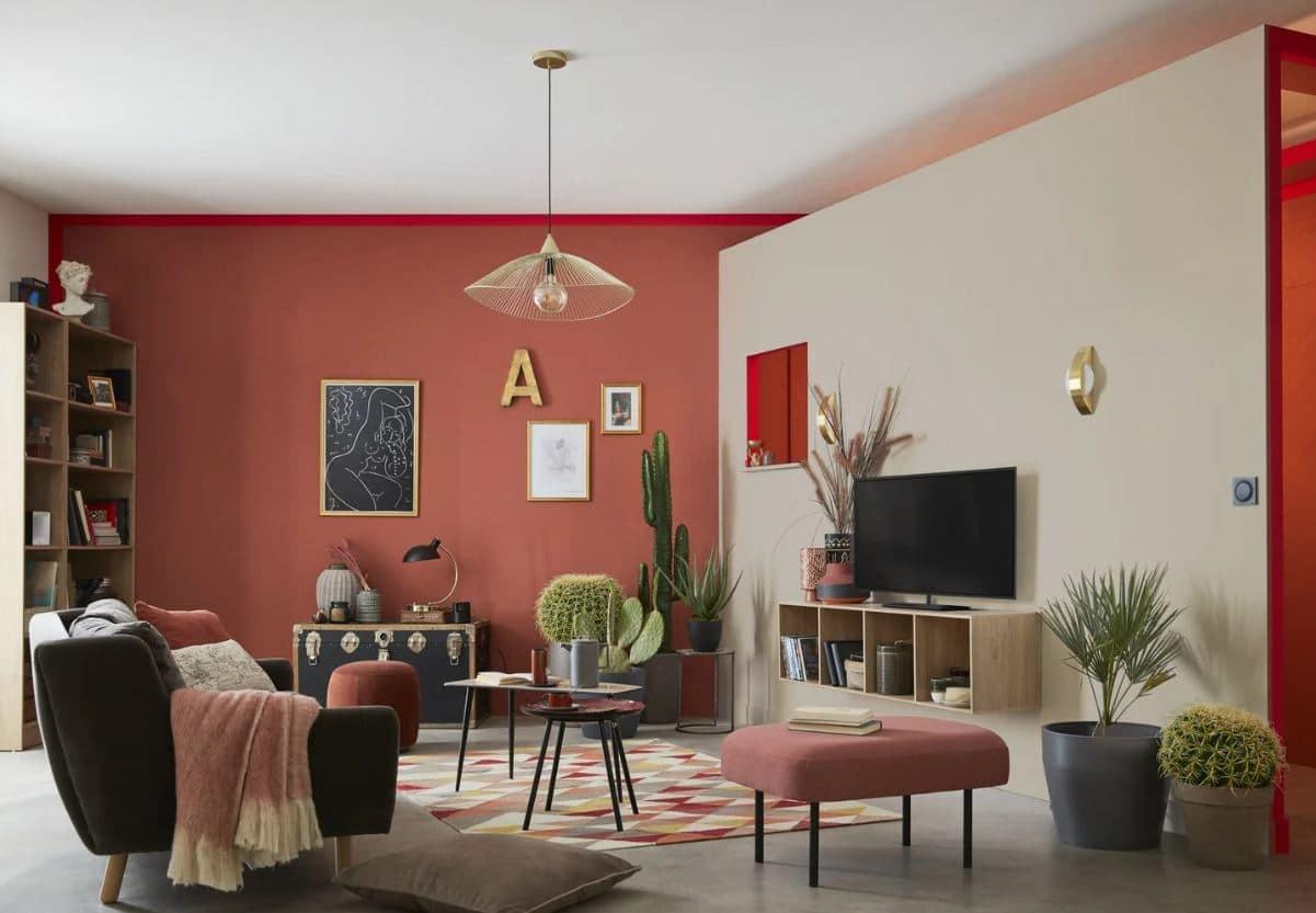 Salon Chaleureux Terracotta