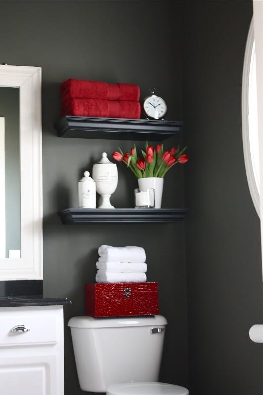 Wc Gris Anthracite Et Rouge