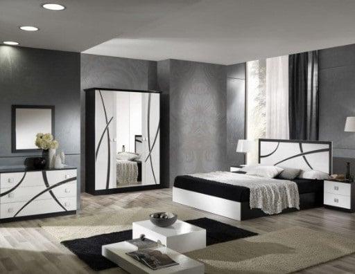 Chambre En Blanc Et Noir
