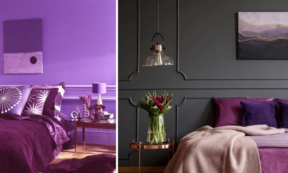 Chambre Violette Deco