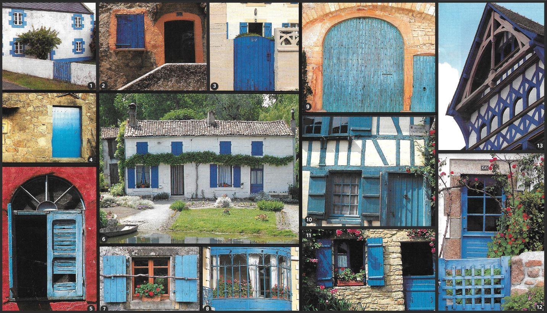 Volet Porte En Bleu Regions Francaise