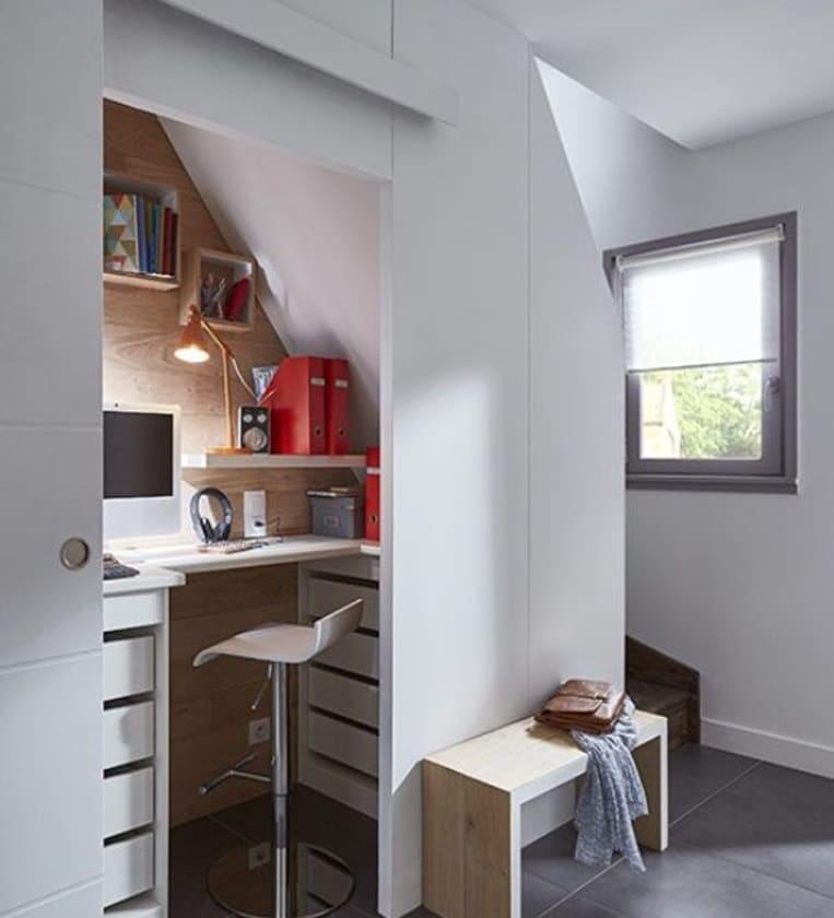 aménager un bureau sous escalier  15 idées pratiques