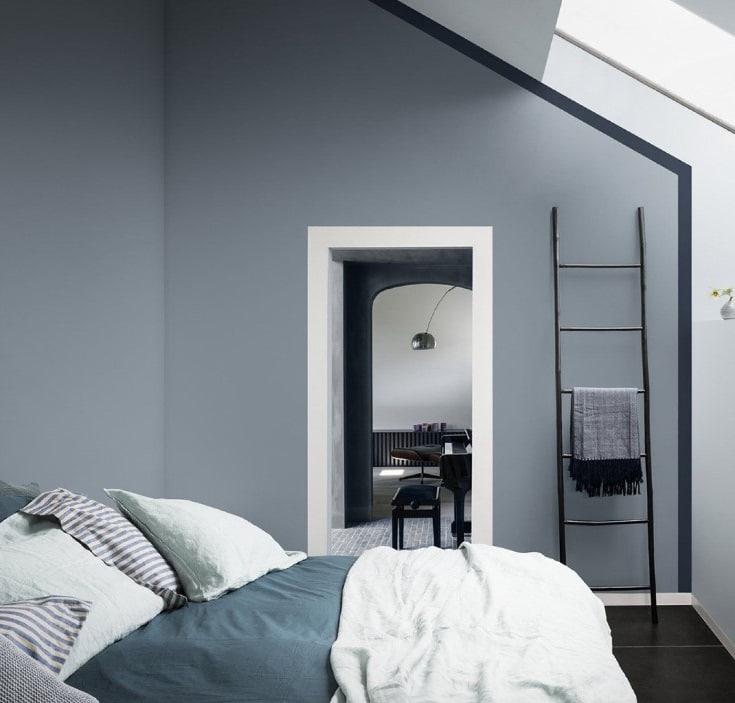 Chambre Bleu Gris Et Blanc
