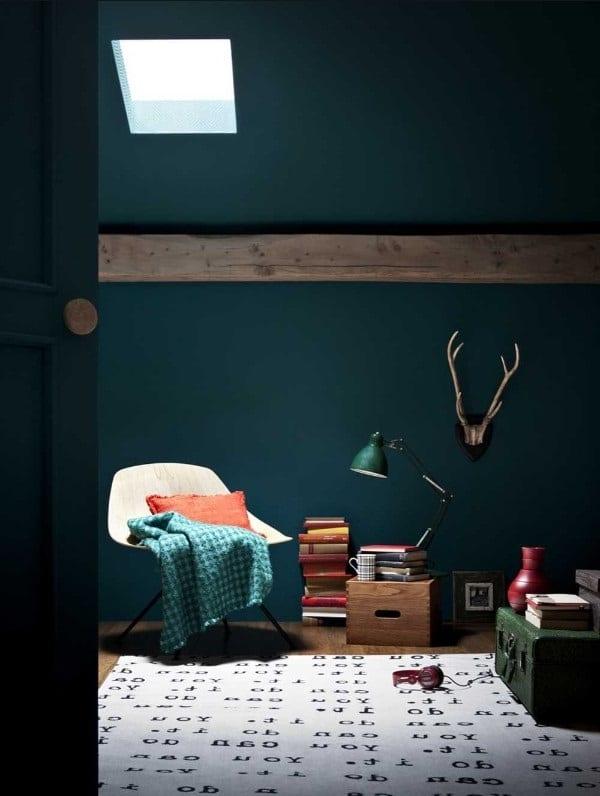 Vert Clair Et Bleu Paon