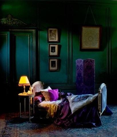 Violet Et Vert Sapin