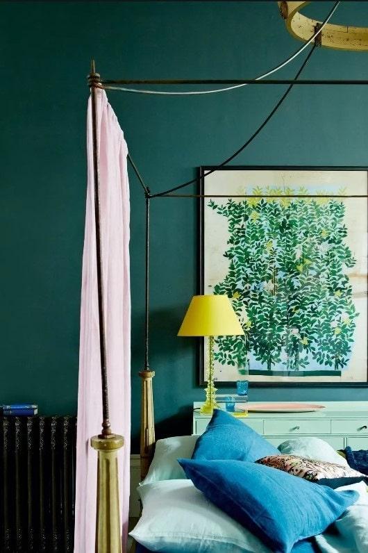 Chambre Vert Canard Et Jaune