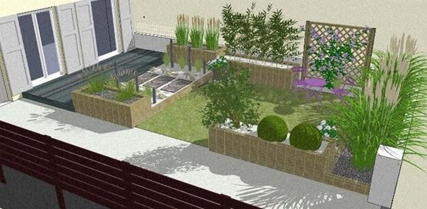 Jardin Avec Zones Distinctes