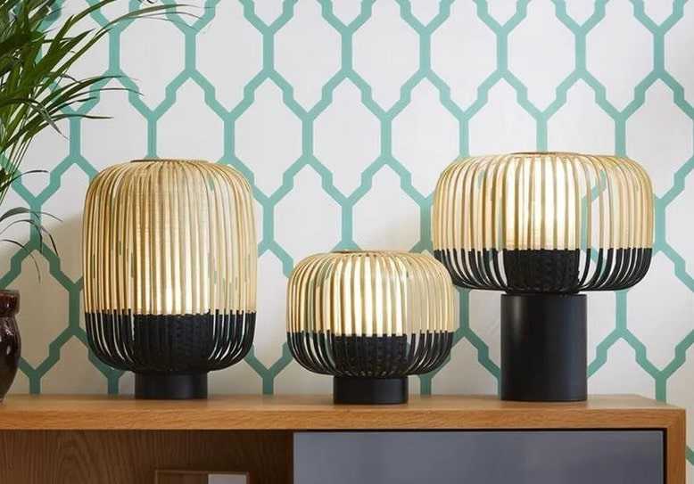 Lampe Style Japonisant