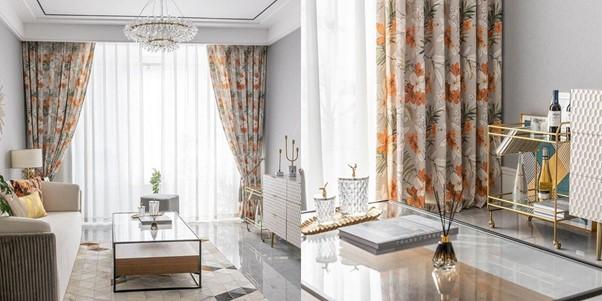 rideaux fleuris
