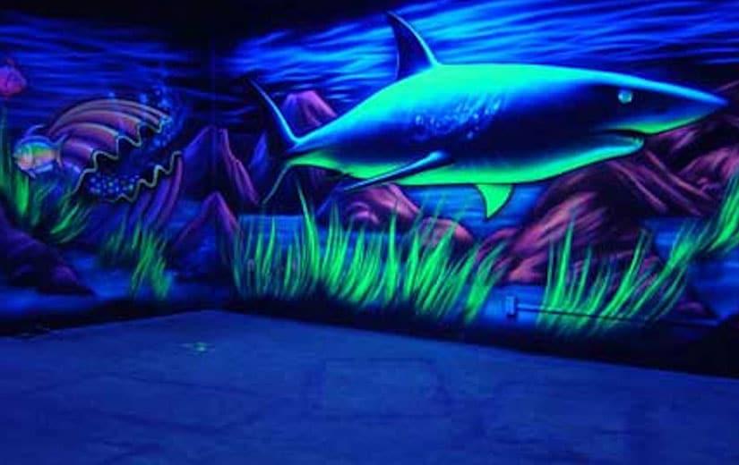 Peinture Lumiere Noire Uv Fluorescent