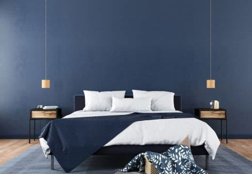 Chambre Moderne Bleue